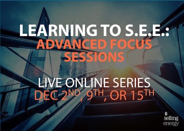 LEARNING TO S.E.E.: ADVANCED FOCUS SESSIONS – 3 TOPICS TO CHOOSE FROM