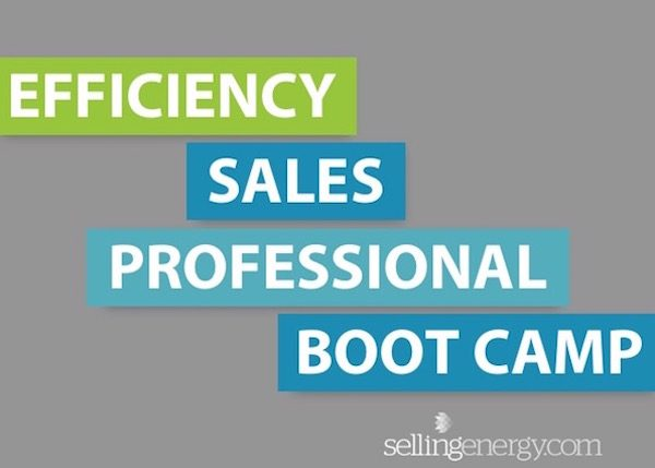 EFFICIENCY SALES PROFESSIONAL BOOT CAMP: 1/30 through 2/2, 2017 – SAN DIEGO