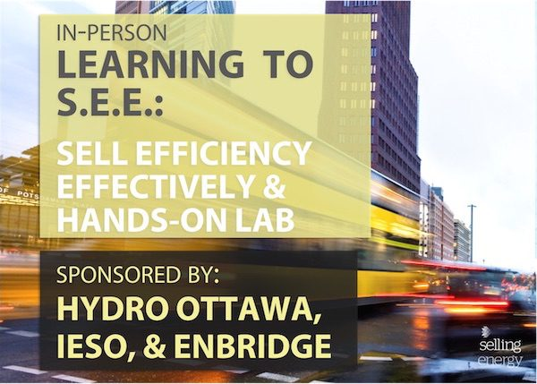 LEARNING TO S.E.E.: SELL EFFICIENCY EFFECTIVELY & HANDS-ON LAB