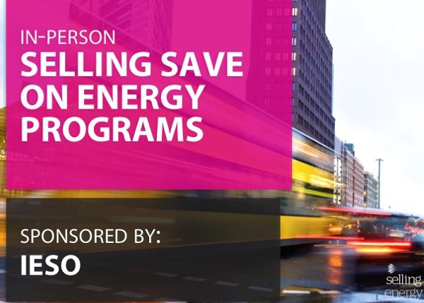 SELLING SAVE ON ENERGY PROGRAMS: SALES TRAINING FOR ONTARIO LDCs