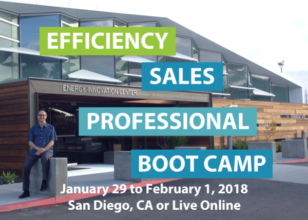 Efficiency Sales Professional Boot Camp - 1/29 to 2/1/2017 - San Diego, CA or Live Online