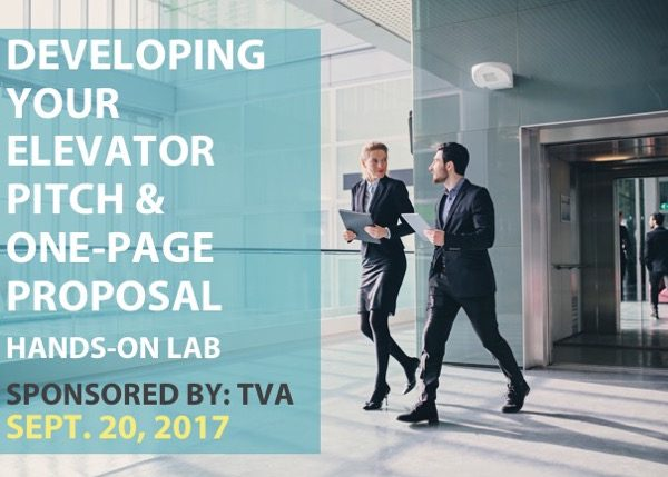 Developing Your Elevator Pitch & One-Page Proposal - Spons'd by TVA - Bowling Green, KY