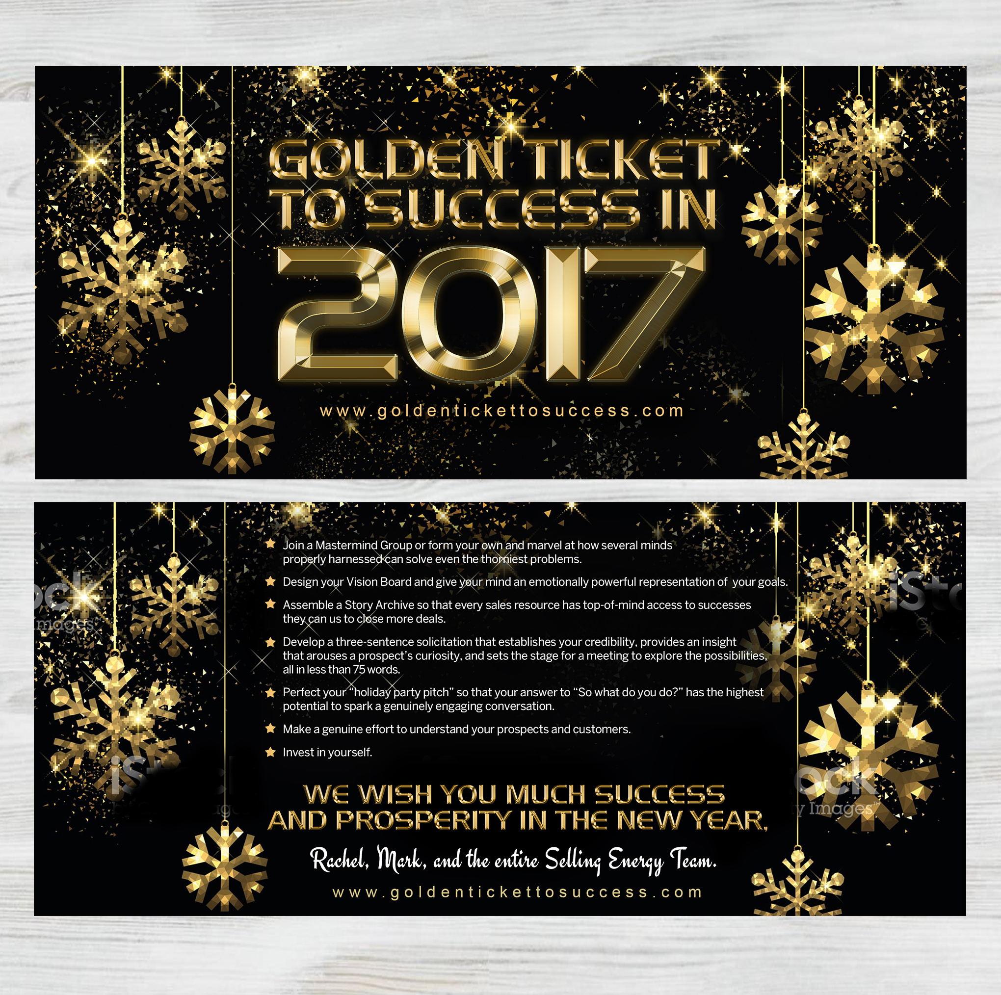Golden Ticket to Success - Selling Energy